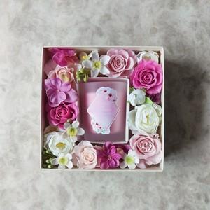 フラワーギフトボックスS(ピンク)