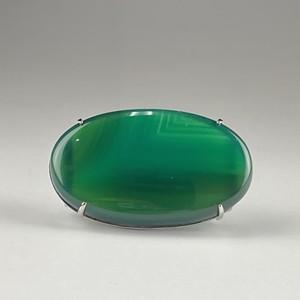 緑縞瑪瑙 / 天然石 / 帯留