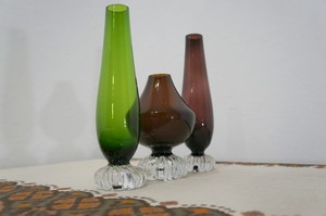 aseda sweden glass vase (GREEN) ガラスの花瓶