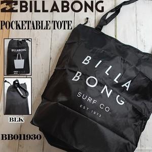 BB011930 ビラボン 新作 エコバッグ ポケッタブル ECOバッグ トート メンズ デイリー タウンユース 通販 人気 ブランド 黒 ブラック クリーンロゴ BILLABONG