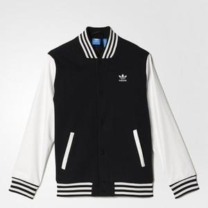 (アディダス オリジナルス) adidas Originals S96092 KIDS COLLEGE JACKET カレッジジャケット BLACK×CORE WHITE
