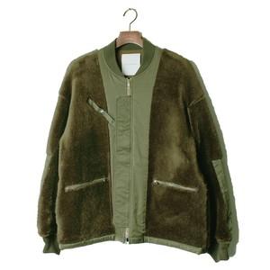 Back Side Detail Fur Blouson -olive <LSD-AI3B2>