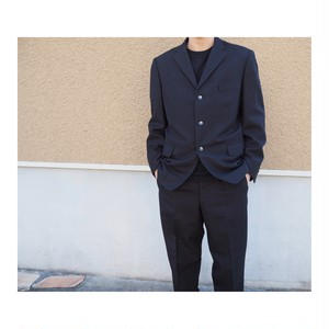 Vintage Suits Set Up Black×Red Stripe