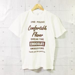 ブランド/SKULLS CAFE T-SHIRT #030 (ホワイト×チョコレート)