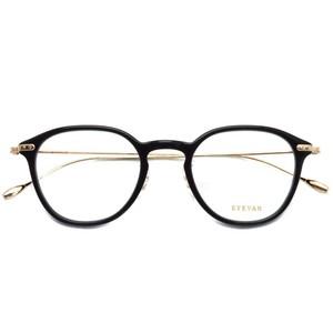 EYEVAN アイヴァン / BRYAN / PBK ブラック-ゴールド メガネ コンビネーションフレーム