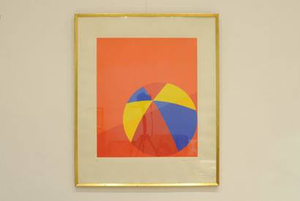 Per Arnoldi Lithograph Ball Red