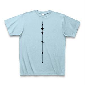 【天文学】太陽系Tシャツ(SolarSystem/LightBlue)