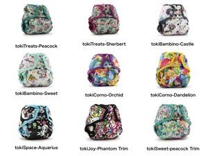"""■Rumparooz One Size Cover【designed by """"tokidoki""""】kangacare カンガケア ランパルーズ ワンサイズ カバー(おむつカバー)【tokidoki コラボデザイン】"""