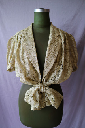Gold lace blouse