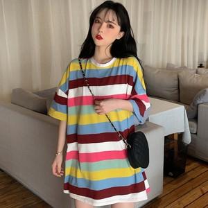 【トップス】ins人気ゆったり韓国風合わせやすいBFカジュアルTシャツ