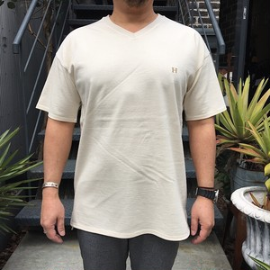 HRM H エンブロイダリー VN SS TEE NATURAL