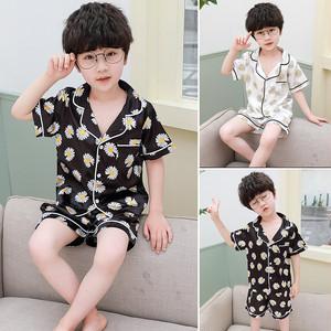 【雑貨・小物】韓国系 プリント キク 冷感 男の子 ルームウェア パジャマ29620303