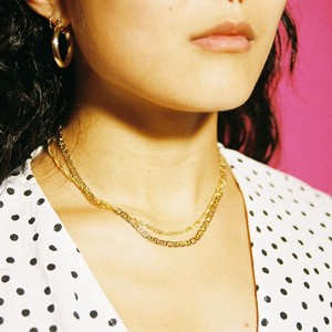 【SET-1-1】gold filled chain necklace set - 2 pairs