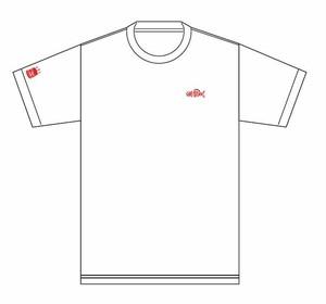 deli fu cious Tシャツ WHITE X RED