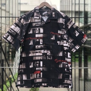 "LEFLAH / レフラー | "" Home Pattern Aloha Shirt "" - Black"