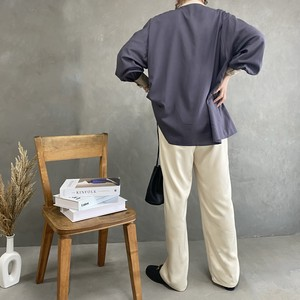 satin easy wide pants