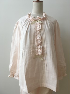 【IKUKO】 2色 パジャマ トリプルガーゼ コットン100 Pink/Beige