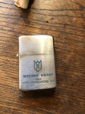 50s ビンテージ  zippo カナダ製 western bridge 企業物