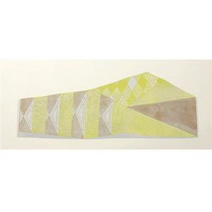 竹崎勝代 TAKEZAKI Katsuyo/woodcut print 'Mt.Jonen'