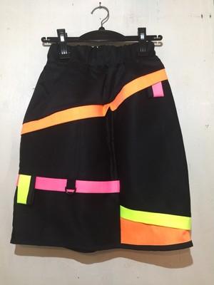 【ぜつきぐ】黒と蛍光 スカート