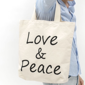 [ the HAMP works ] TOTE_BAG B-8 :  LOVE&PEACE