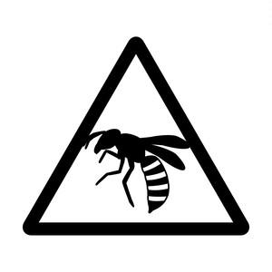蜂注意のカッティングステッカーシール
