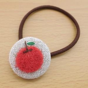 ヘアゴムボタン/りんご