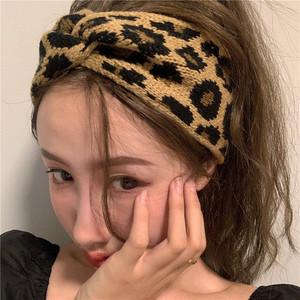 【小物】レトロヒョウ柄カジュアル合わせやすいヘアバンド25078847