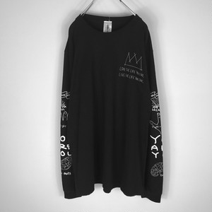 再入荷 OMIYAGE by POURTON DE MOI POSITIVE GRAFFITI L/S TEE black