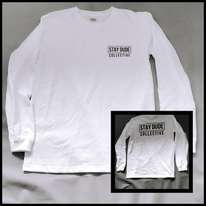 STAY DUDE COLLECTIVE / LOGO-long sleeve shirt