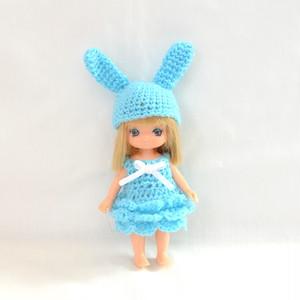 うさぎの編みドレスセット