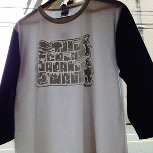 THE GREAT JAPANESE WALL Set in7分Tee Col.WHT/BLK