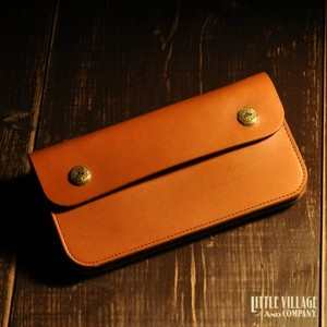 """Original Truckers' Wallet """"Long"""" w/ Brass Buttons : Natural"""