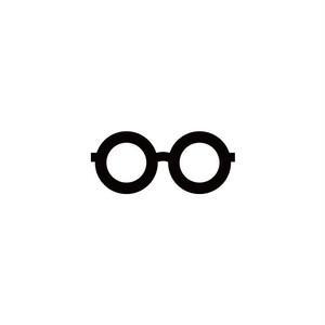 丸眼鏡  サイズ:H43×W100mm