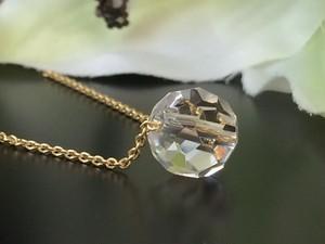 高速で願いを叶えるバッキ―ボール水晶一粒ネックレス