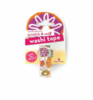 vanilla donuts scratch & sniff washi tape /PH
