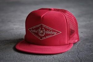 "DUCKTAIL CLOTHING TRUCKER CAP ""HORSESHOE"" RED ダックテイル クロージング メッシュキャップ"