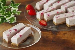 ビーガン ストロベリーローケーキ(10本セット)※卵・バター・乳・小麦・白砂糖不使用