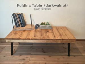 折りたたみテーブル ローテーブル 座卓 子供机[Folding Table (darkwalnut)]
