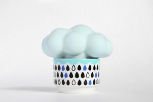 雲の加湿器:ブルー雲×ブラック系カップ・・・スウセラ(sucera)
