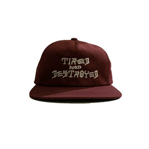 T&D 5-PANEL UNCONSTRUCTED CAP <maroon> 【TIRED】