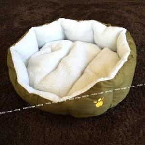 犬猫用 ベッド モスグリーン 【Lサイズ】