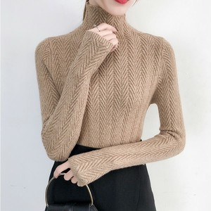 Turtleneck slim knit top タートルネック スリム ニット トップス
