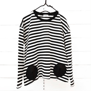BORDER L/S TEE - BEAR MT 2DOTS