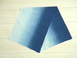 ◆100%自然素材 天然灰汁発酵建て 本藍染◆ グラデーション&濃紺のセット手拭い