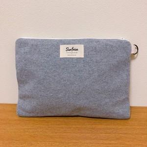 Sweat clutch bag - Gray