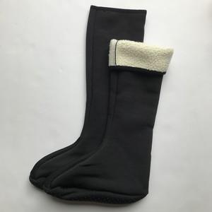 新品 韓国ヨスルポソン ロングタイプ 黒無地 あったか靴下ボア付きルームシューズ