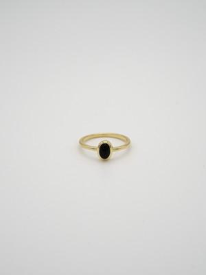<改良版 2/21発売>classic gem ring gold -onyx-