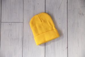 ニット帽(イエロー/ネイビー)