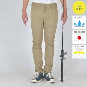 """The Colorful Angler""  FISHING STRETCH COLOR PANTS BEIGE BW-104VMC"